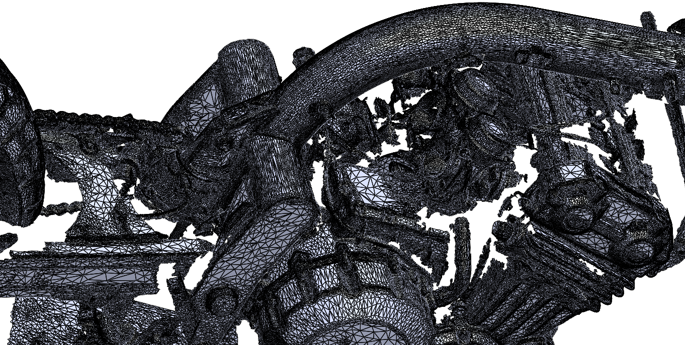 Trident motorcycle frame 3D scan
