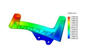 FEA study of pannier bracket