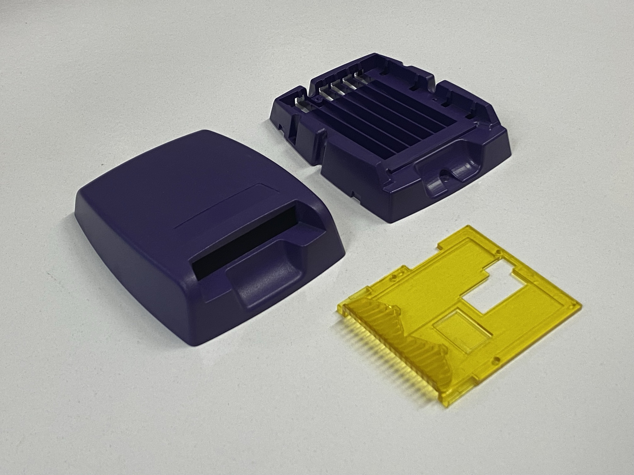 Top, base and PCB holder mouldings